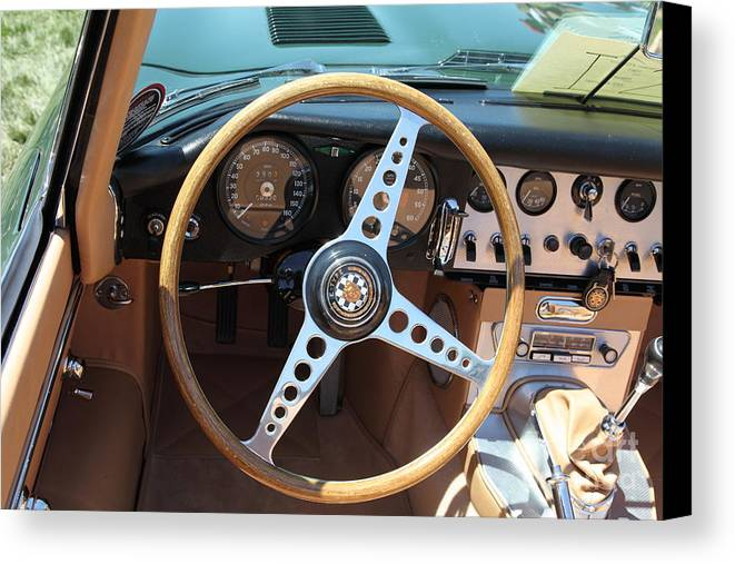 Transportation Canvas Print featuring the photograph 1961 Jaguar Xke Roadster 5d23325 by Wingsdomain Art and Photography