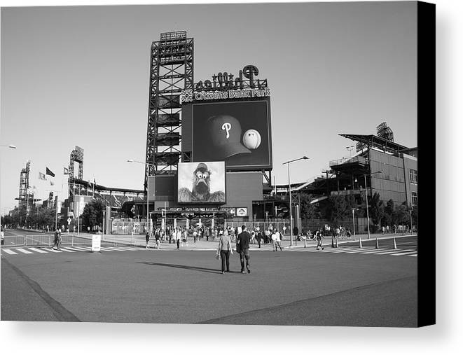 America Canvas Print featuring the photograph Citizens Bank Park - Philadelphia Phillies by Frank Romeo
