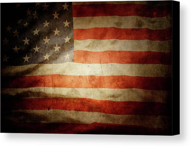 Flag Canvas Print featuring the photograph American Flag by Les Cunliffe