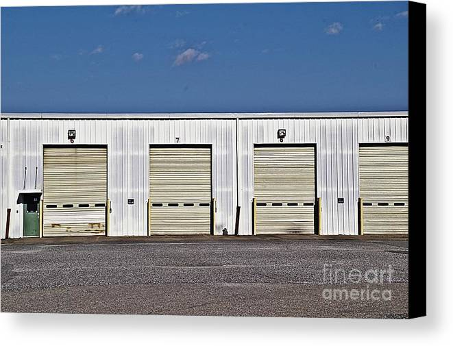 6 7 8 9 Warehouse Not In Use Now This Is A Very Large Trucking Opeation Canvas Print featuring the photograph 6 7 8 9 Warehouse by JW Hanley