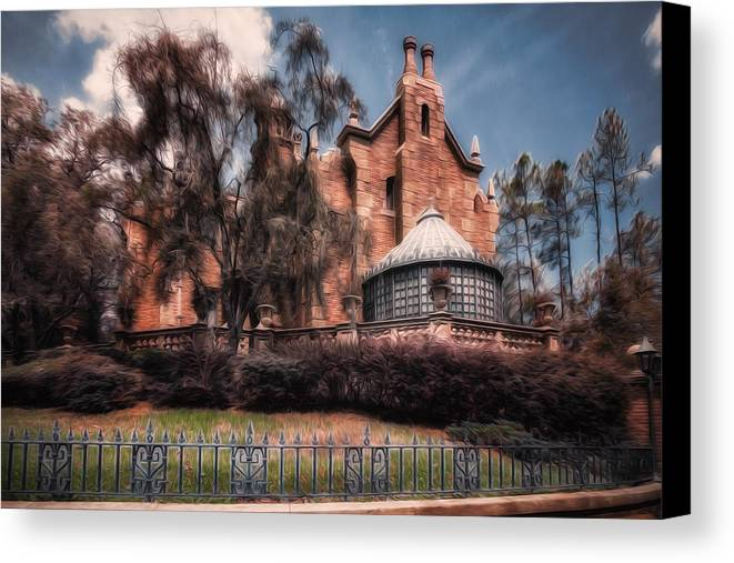Haunted House Canvas Print featuring the photograph A Haunting House by Joshua Minso