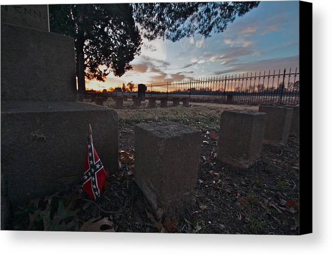 Civil War Photos Canvas Print featuring the photograph A Remembrance At Franklin by Kim Kruger
