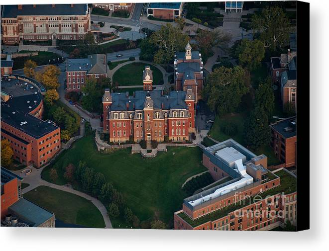 Woodburn Hall Canvas Print featuring the photograph Aerial Of Woodburn Hall by Dan Friend