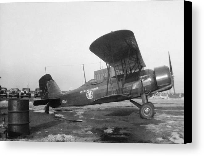 Aa Canvas Print featuring the photograph American Airlines Stearman by Henri Bersoux