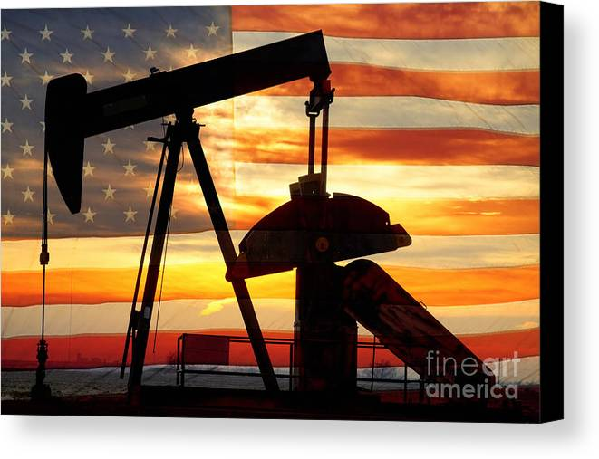 Oil Canvas Print featuring the photograph American Oil by James BO Insogna