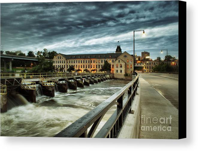Appleton Canvas Print featuring the photograph An Evening Down In The Flats by Mark David Zahn