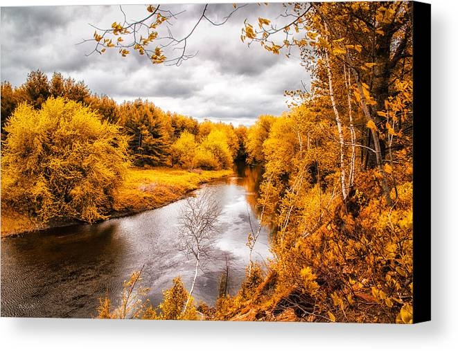 Fall Canvas Print featuring the photograph Autumn White Mountains Maine by Bob Orsillo