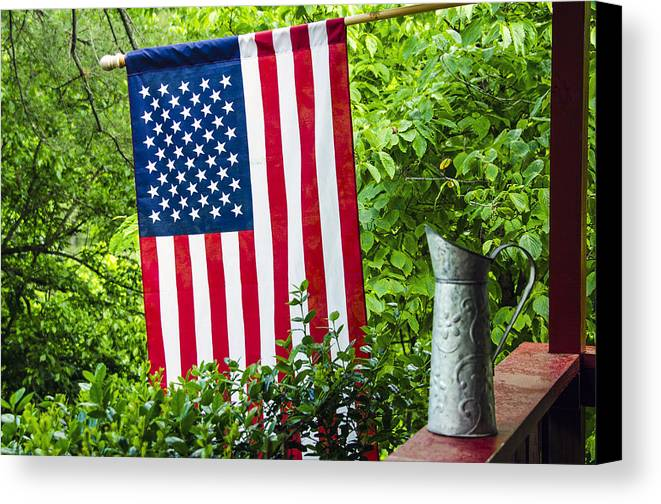 American Canvas Print featuring the photograph Back Porch Americana by Carolyn Marshall