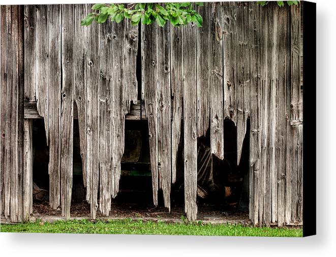 barns canvas print featuring the photograph barn boards rustic decor by gary heller barn boards