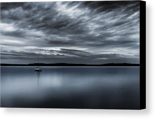 Storm Canvas Print featuring the photograph Batten Down The Hatches by Ryan Manuel