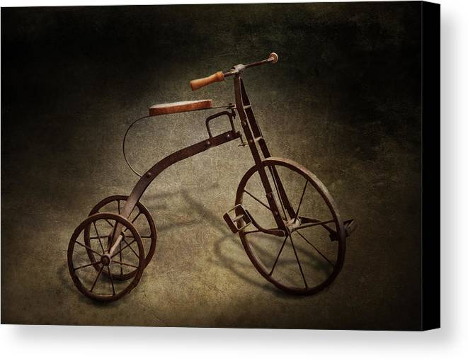 Hdr Canvas Print featuring the photograph Bike - The Tricycle by Mike Savad