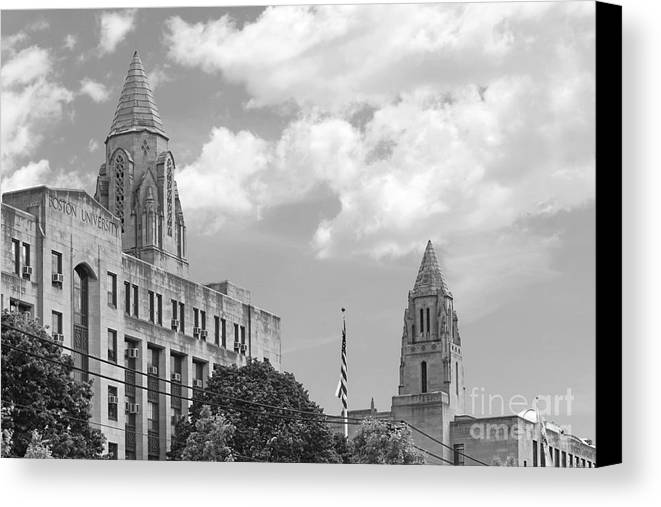 Boston Canvas Print featuring the photograph Boston University Towers by University Icons