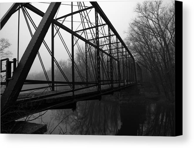 Bridge Canvas Print featuring the photograph Bridge by Off The Beaten Path Photography - Andrew Alexander