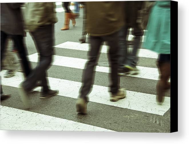Downtown Canvas Print featuring the photograph Brown Boots by Steven Michael
