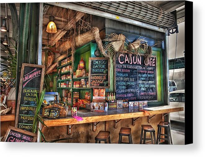 New Orleans Canvas Print featuring the photograph Cajun Cafe by Brenda Bryant
