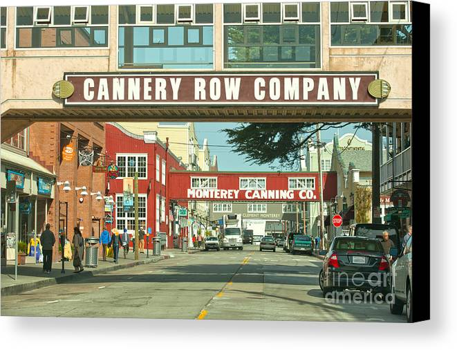 Monterey California Canvas Print featuring the photograph Cannery Row Monterey California by Artist and Photographer Laura Wrede