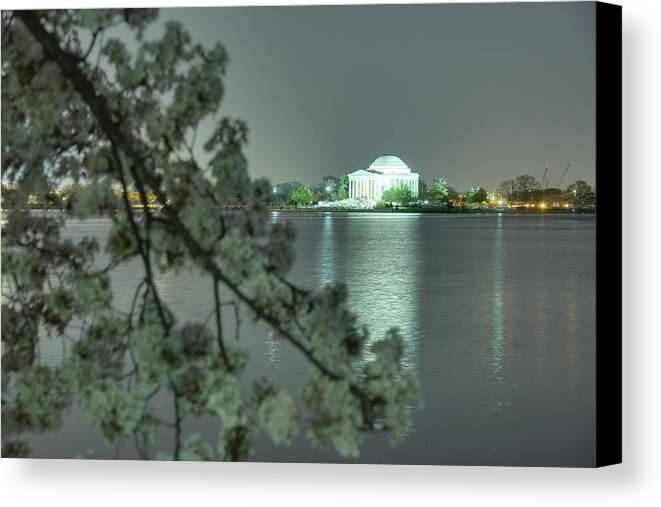Architectural Canvas Print featuring the photograph Cherry Blossoms 2013 - 102 by Metro DC Photography