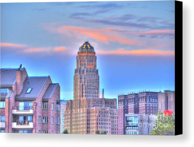 Cityscape Canvas Print featuring the photograph Cityscape by Kathleen Struckle