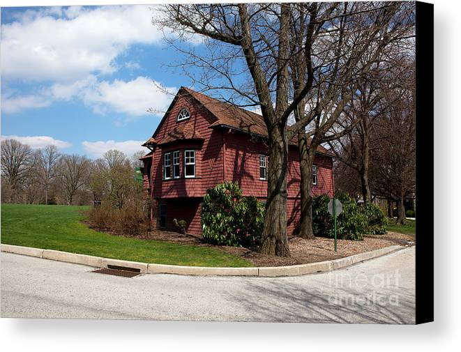 Haverford Canvas Print featuring the photograph Cricket Building At Haverford College by Kay Pickens