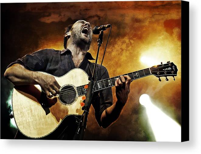 Dmb Canvas Print featuring the photograph Dave Matthews Scream by The Vault - Jennifer Rondinelli Reilly