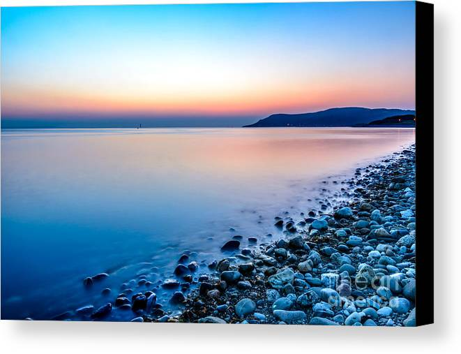 Bay Canvas Print featuring the photograph Deganwy North Wales by Adrian Evans