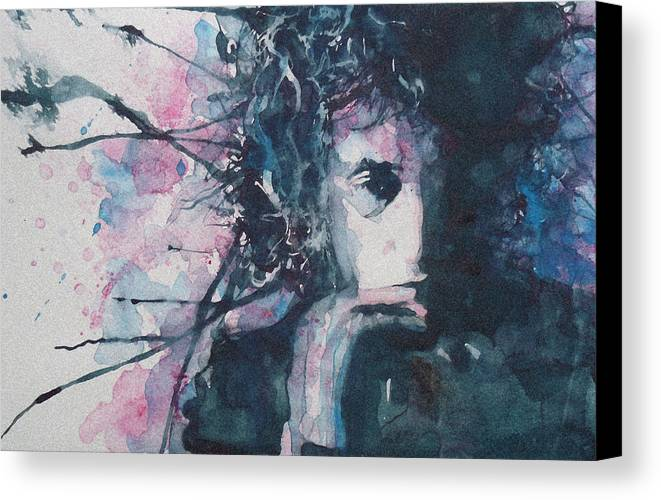Bob Dylan Canvas Print featuring the painting Don't Think Twice It's Alright by Paul Lovering