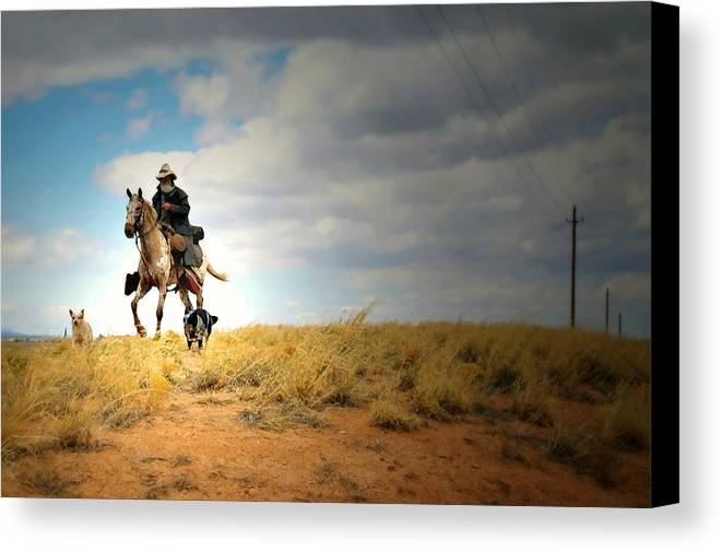 Landscape Canvas Print featuring the photograph Family Day by Diana Angstadt