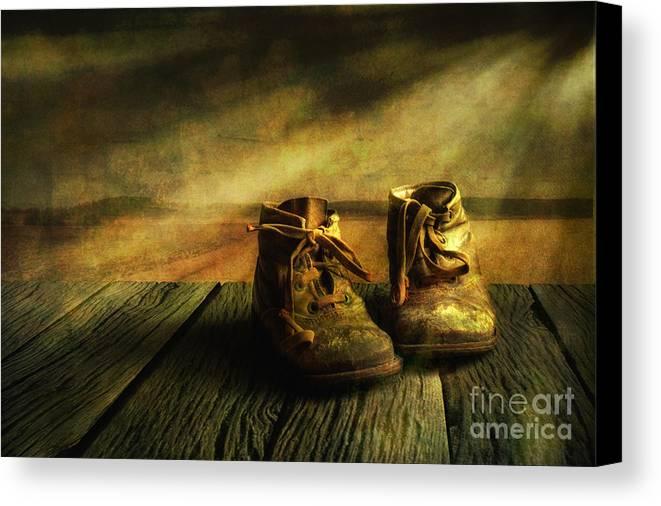 Art Canvas Print featuring the photograph First Shoes by Veikko Suikkanen