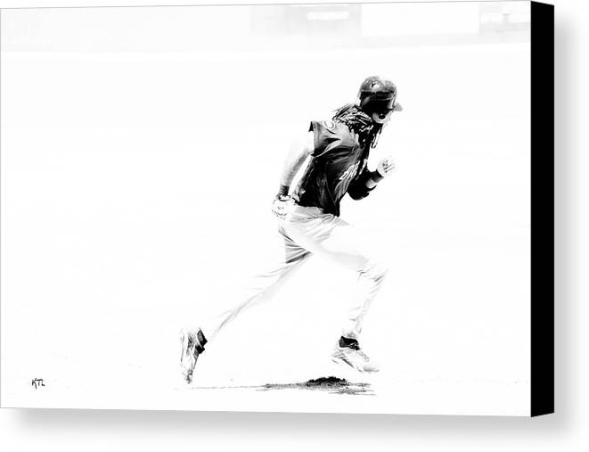Baseball Canvas Print featuring the photograph Flash by Karol Livote
