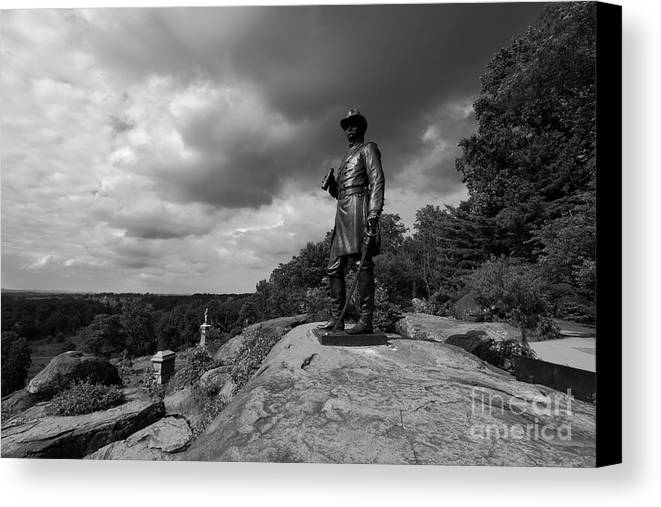 Gettysburg Canvas Print featuring the photograph General Warrens Finest Hour by James Brunker