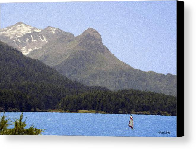 Europe Canvas Print featuring the painting Going Where The Wind Blows by Jeff Kolker