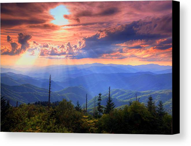 Landscape Canvas Print featuring the photograph Great Smoky Mountains by Doug McPherson