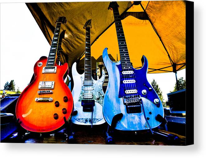 The Kingpins Canvas Print featuring the photograph Guitar Trio by David Patterson