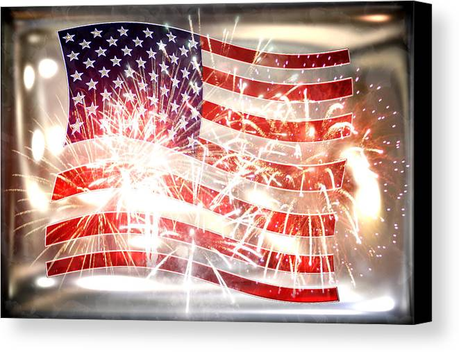 Declaration Of Independence Canvas Print featuring the photograph Happy Birthday America by Li  van Saathoff