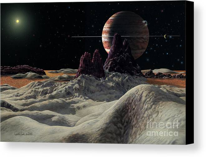 lynette Cook Canvas Print featuring the painting Hd 168443 System by Lynette Cook