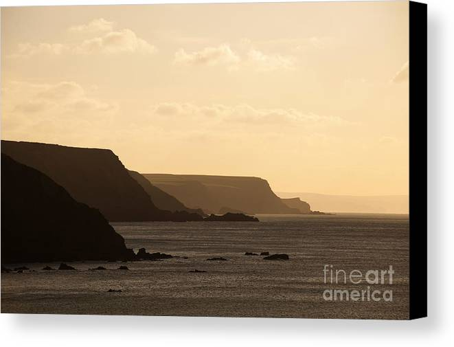 Headland Canvas Print featuring the photograph Headland by Anne Gilbert