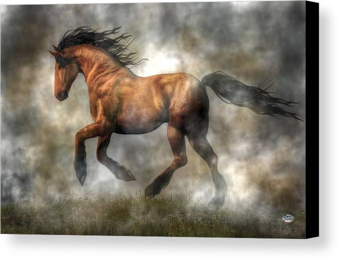 Horse Canvas Print featuring the digital art Horse by Daniel Eskridge