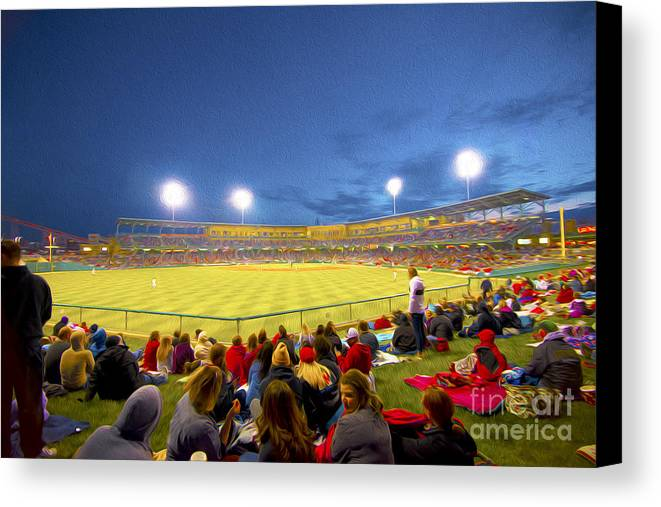 Victory Field Canvas Print featuring the photograph Indianapolis Indians by David Haskett