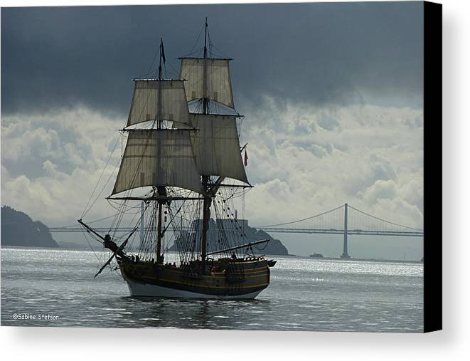 Tall Ship Canvas Print featuring the photograph Lady Washington by Sabine Stetson