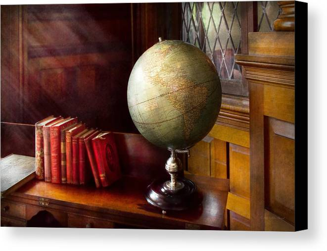 Self Canvas Print featuring the photograph Lawyer - A World Traveler by Mike Savad