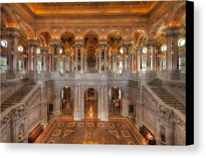 Library Of Congress Canvas Print featuring the photograph Library Of Congress by Steve Gadomski