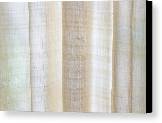 Blond Canvas Print featuring the photograph Linen Curtain by Tom Gowanlock