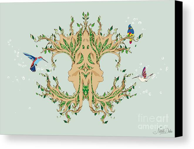 Art Canvas Print featuring the digital art Magic Tree by Disko Galerie