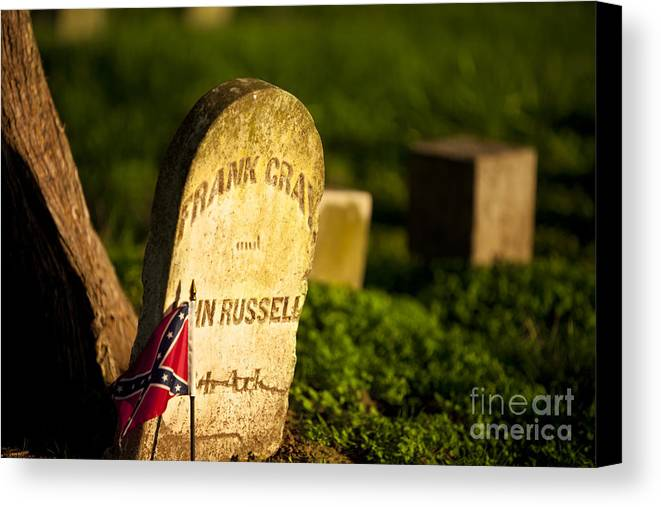 Mcgavock Canvas Print featuring the photograph Mcgavock Confederate Cemetery by Brian Jannsen