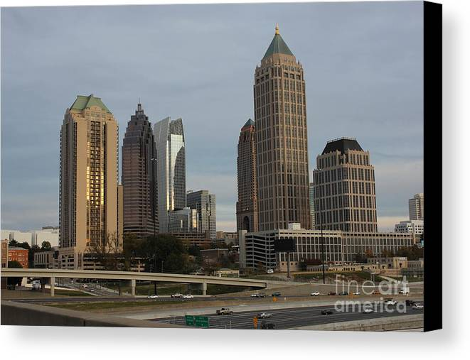 Reid Callaway Midtown Atlanta Canvas Print featuring the photograph Midtown Atlanta by Reid Callaway