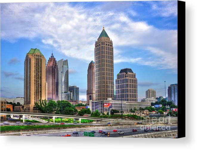 Reid Callaway Midtown Atlanta Canvas Print featuring the photograph Midtown Atlanta Too by Reid Callaway