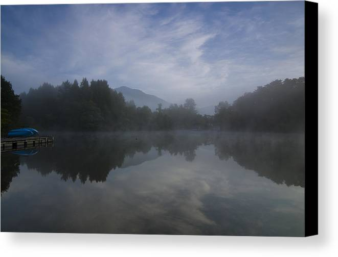 Fukushima Canvas Print featuring the photograph Misty Morning by Aaron S Bedell