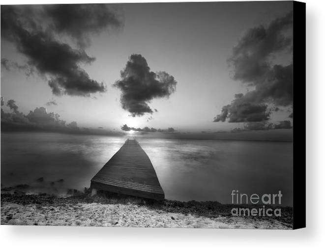 Morning Canvas Print featuring the photograph Morning Sunrise By The Dock by Dan Friend