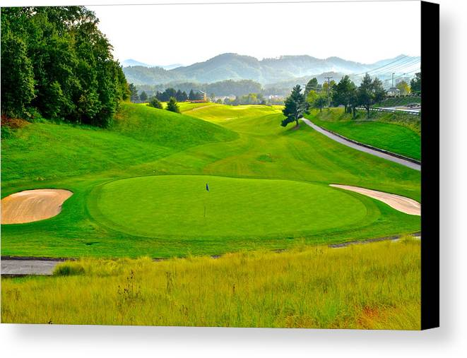 Golf Canvas Print featuring the photograph Mountain Golf by Frozen in Time Fine Art Photography