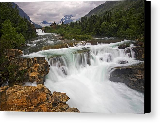 Glacier National Park Canvas Print featuring the photograph Mountain Paradise by Mark Kiver